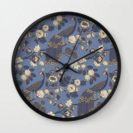 Peacock Garden {Eastern Blue} Wall Clock