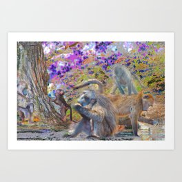 Dinner at Clarence Art Print