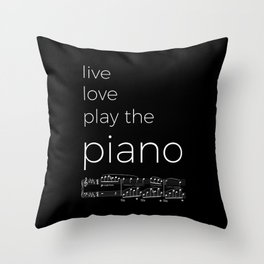 Live, love, play the piano (dark colors) Throw Pillow