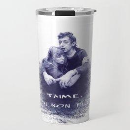 Je t'aime - Jane Birkin & Serge Gainsbourg Travel Mug