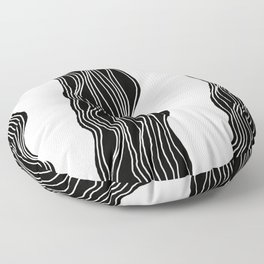 Parallel Lines No.: 03. - White Lines Floor Pillow
