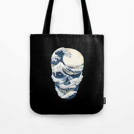 The Great Wave off Skull Tote Bag