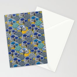 Trees in Gold Stationery Cards