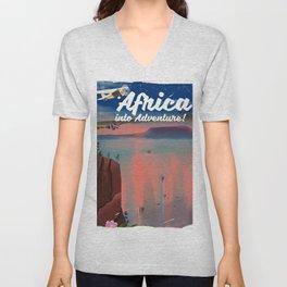 Africa Into Adventure! Unisex V-Neck