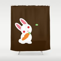 bunny Shower Curtains featuring Bunny by facebook.com/AAPP0