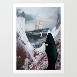 Tidal wave of Horror Art Print