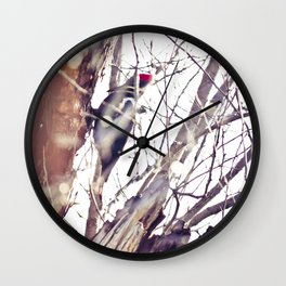 a knock on my morning's door no.2 Wall Clock