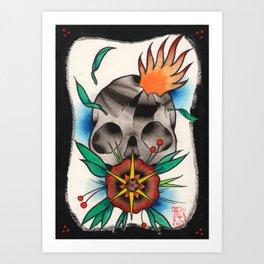Skull of Unnamed Fear Art Print