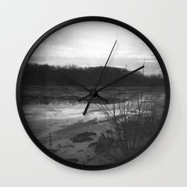 Frozen River Wall Clock
