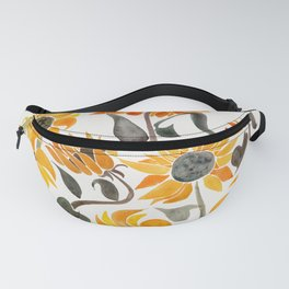 Sunflower Watercolor – Yellow & Black Palette Fanny Pack