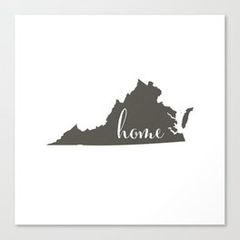 Virginia is Home Canvas Print
