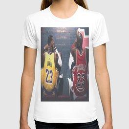 Michae-l Jordan LeBron Jame-s Poster Canvas Wall Art LA T-shirt