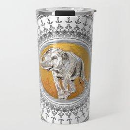 golden elephant Travel Mug