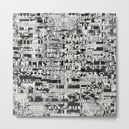 Confused Images Behind the Interface (P/D3 Glitch Collage Studies) Metal Print