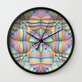 Symmetry in Pastels Wall Clock