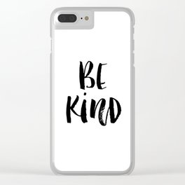 Be Kind watercolor modern black and white minimalist typography home room wall decor Clear iPhone Case