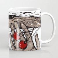 cherry Mugs featuring Cherry by Iris V.