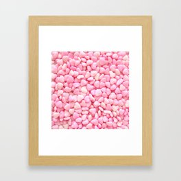 Pink Candy Hearts Framed Art Print