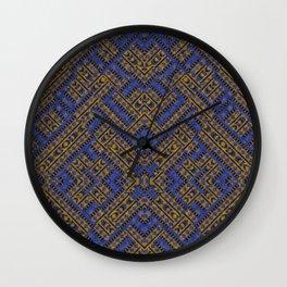 Blue Tribe Wall Clock