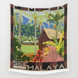 Vintage poster - Malaya Wall Tapestry