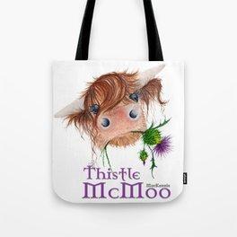 Thistle MacKenzie-McMoo by Fiona Bárcenas Tote Bag