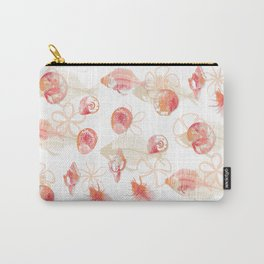 Fish Fossils - White Carry-All Pouch