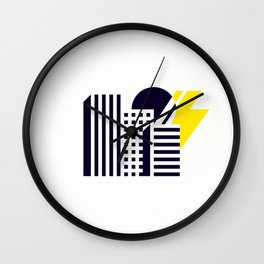 Thunder Over Town Wall Clock
