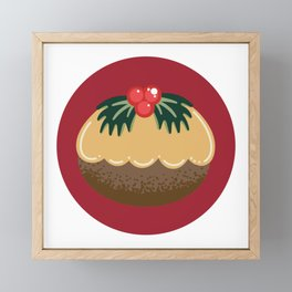 Get Figgy With It Red Framed Mini Art Print