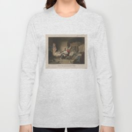 President Lincoln, writing the Proclamation of Freedom (January 1st, 1863) Long Sleeve T-shirt