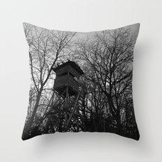 Dark December day Throw Pillow