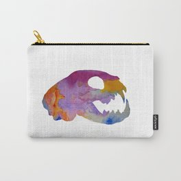 Cat Skull Art Carry-All Pouch