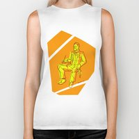 nietzsche Biker Tanks featuring The Dawn of Nietzsche by Duessa