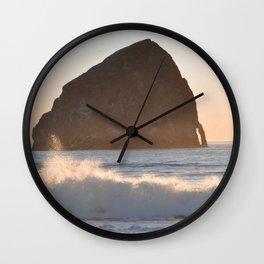 CAPE KIWANDA SUNSET - OREGON Wall Clock