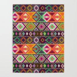 Aztec Artisan Tribal Bright Poster