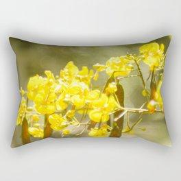 Popcorn Flower Bokeh Delight Variation Rectangular Pillow