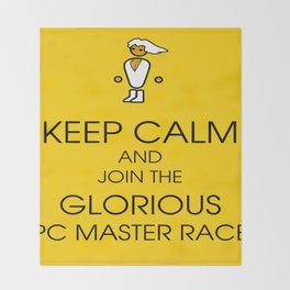 Glorious PC Master Race Throw Blanket