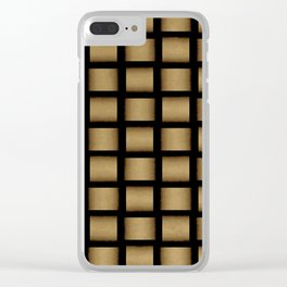 Golden Cross Clear iPhone Case
