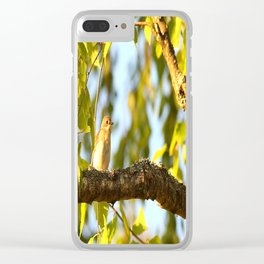 Songbird Singing On The Branch  #decor #society6 Clear iPhone Case