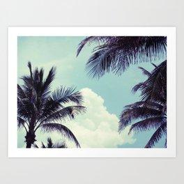 Welcome to Miami Palm Trees Art Print
