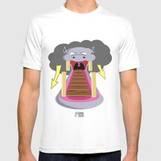 The Hippo's Not So Tempting Offer White Mens Fitted Tee MEDIUM