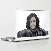 jon snow Laptop & iPad Skins featuring JON SNOW  by Flambino Gambino