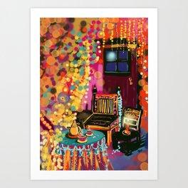 Tea With Gypsies Art Print