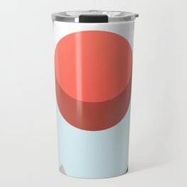 Minimalist Red Moon Lunar Eclipse with Mountains Travel Mug