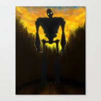 iron giant Canvas Prints featuring Iron Giant by RbMachado