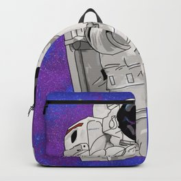 Hypebeast Spaceman Floating In Space | High Quality Artwork Backpack