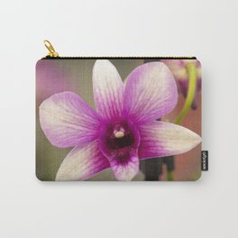 Pink and Purple Orchid Carry-All Pouch