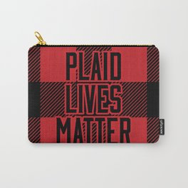 Plaid Lives Matter Carry-All Pouch