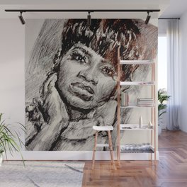 Black Woman in the Mirror Wall Mural