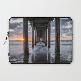 Pacific Ocean California Sunset La Jolla Scripps Pier Laptop Sleeve