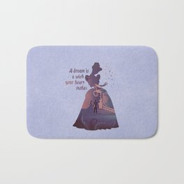 """A Dream Is A Wish Your Heart Makes"" Cinderella Inspired Bath Mat"